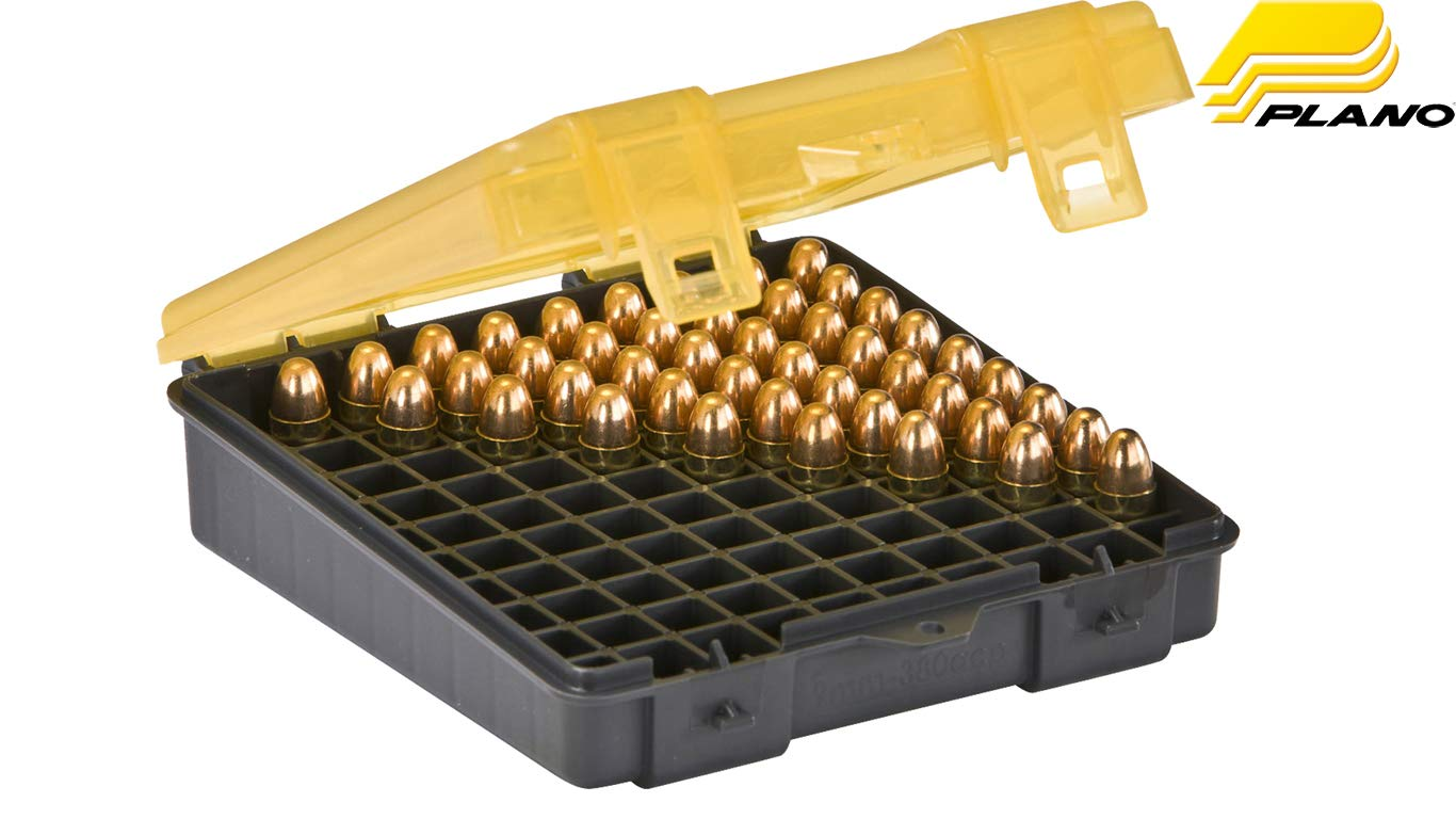 Plano 100 Count Handgun Ammo Case (for 9mm and .380ACP Ammo) by Plano Molding 1224-00