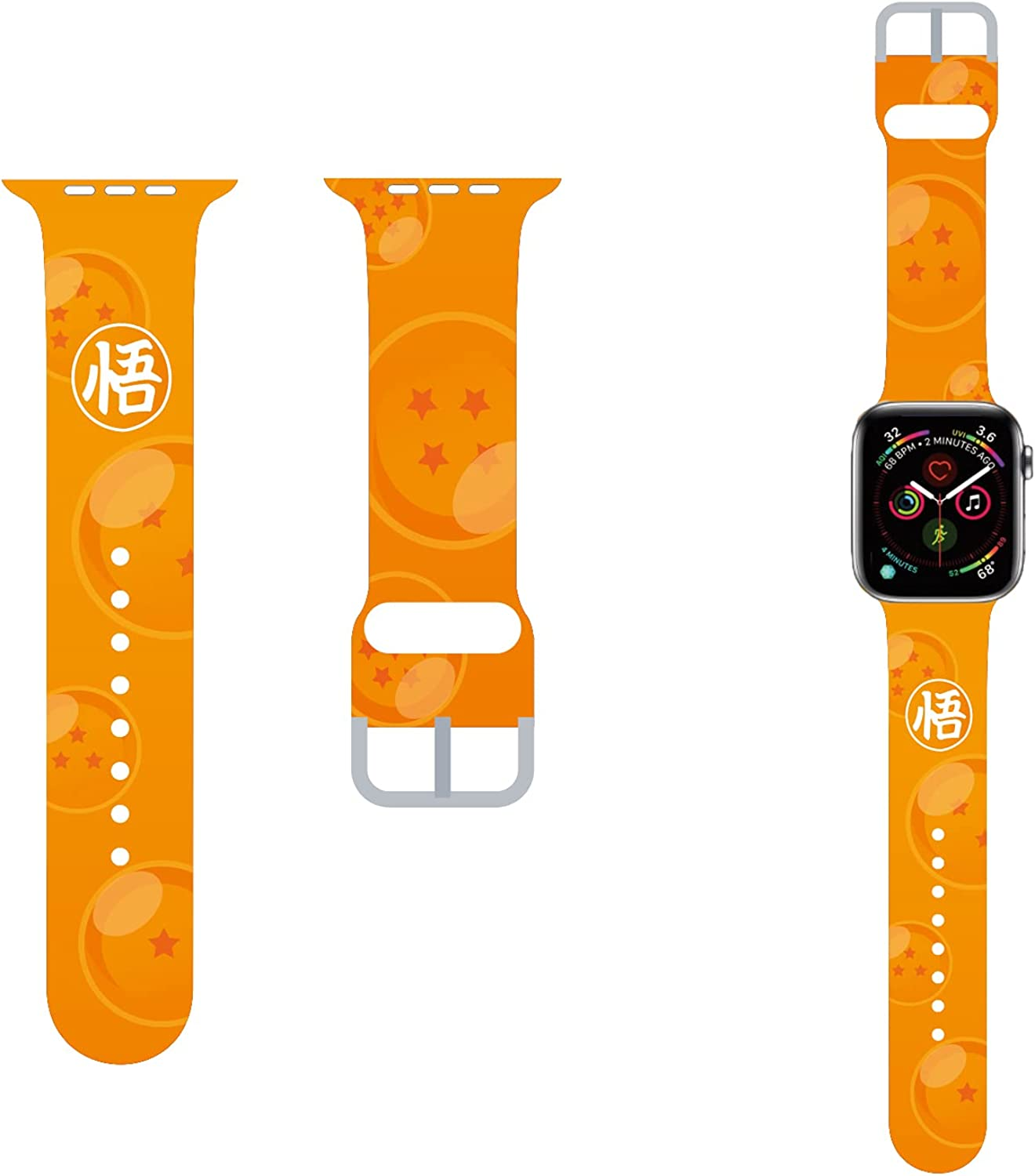 MoimTech Anime Cute Bands compatible with Apple watch 40mm 38mm 44mm 42mm,Sport Silicone Designer Apple watch bands for iWatch Series SE 6 5 4 3 2 1 for Kids Women Men Gold