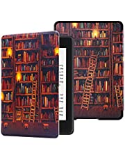 HUASIRU Painting Case for All-new Kindle Paperwhite (10th Generation-2018 Only - Will Not fit Prior Generation Kindle Devices), Library