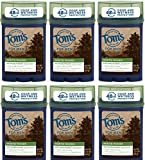 Tom's of Maine North Woods Men's 48-Hour Antiperspirant Deodorant, 2.25 Ounce, (Pack Of 6)
