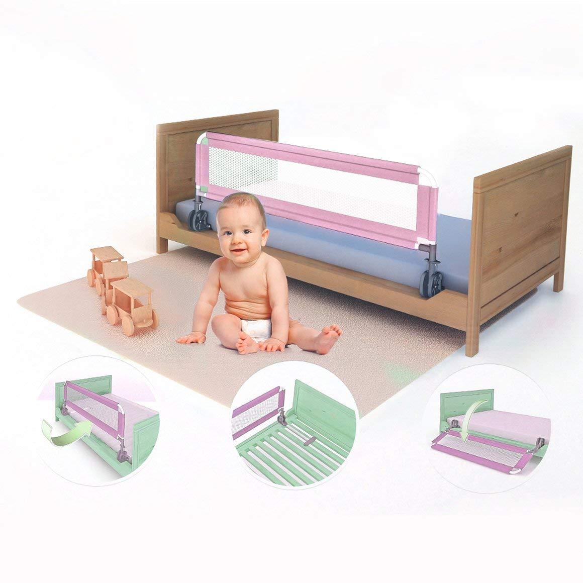 Funnyrunstore 1M Portatile per Beb/è Letto per Bambini parapetto Pieghevole per Bambini Recinzione griglia Sicurezza Sonno Guardia Protettiva Side bedrail