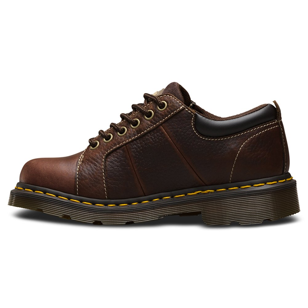 Dr. Martens Women's Mila NS 6 Eye Work Oxfords, Brown, Leather, 5 M UK, 7 M US by Dr. Martens (Image #2)