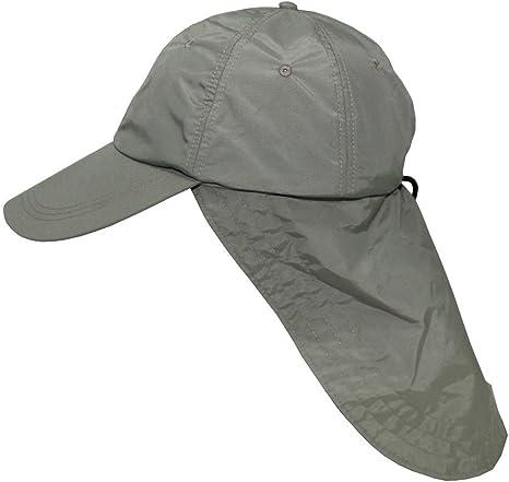Gorra con extra largo protector de nuca, colour verde Wüstencap ...