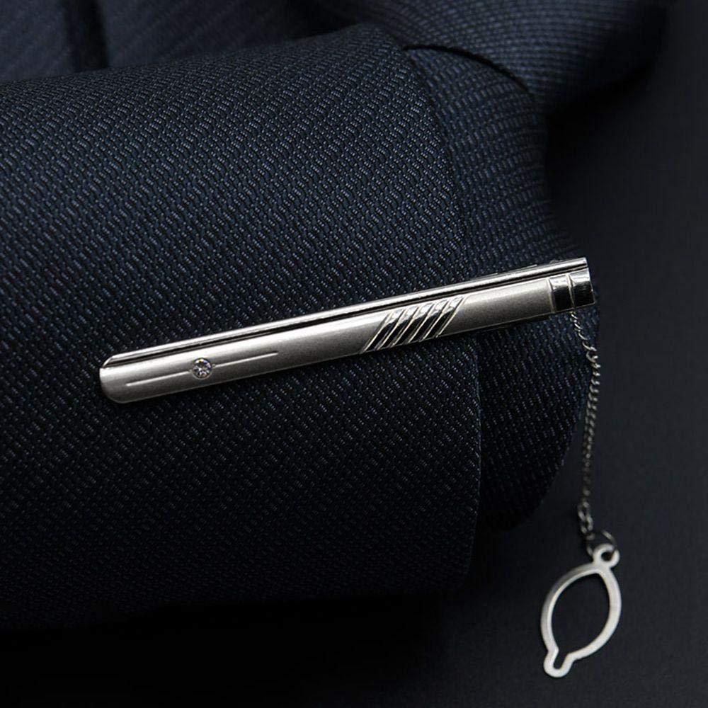 Vestido de Hombre Clip de Corbata Plateado Simple lavalier de ...