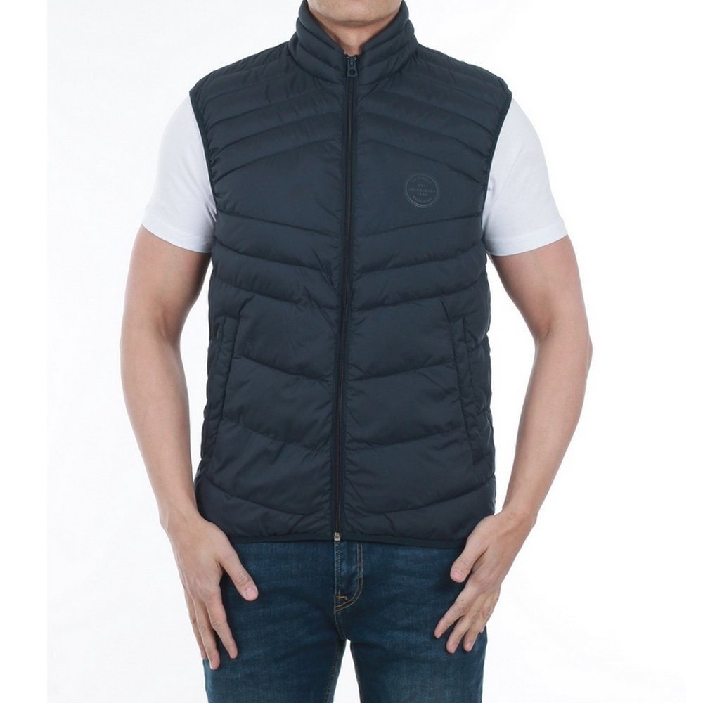 Jack & Jones Mens Gilet Jacket New Landing Funnel Neck Zip Up Bodywarmer