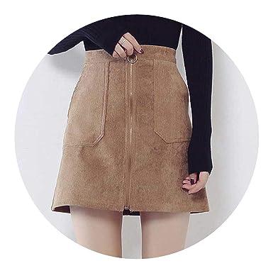 1f806f696 Skirts Casual Velvet Skirts Pocket Middle Waist Pencil Mini Corduroy Skirt  2018 Autumn Winter Trendy,