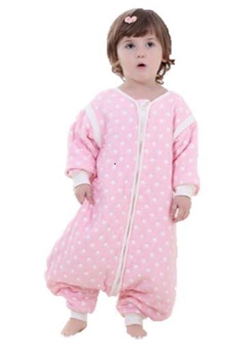 Bebé saco de dormir con pies y manga desmontable. 2.0 Tog Rosa Spot rosa rosa