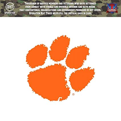 908ef01f908 Victory Tailgate Clemson University Tigers Operation Hat Trick OHT Die Cut  Vinyl Decal (6x6)