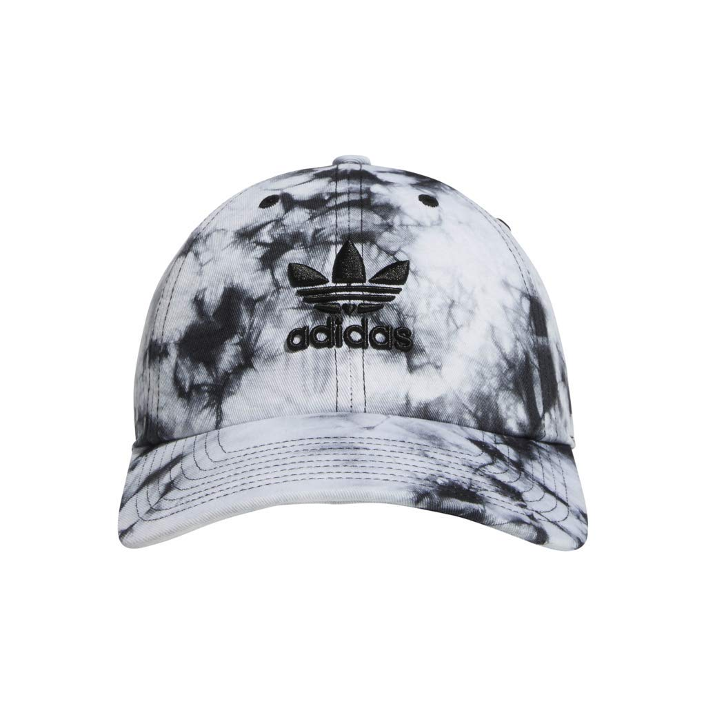 adidas Women's Originals Relaxed Adjustable Strapback Cap, Black/White, One Size