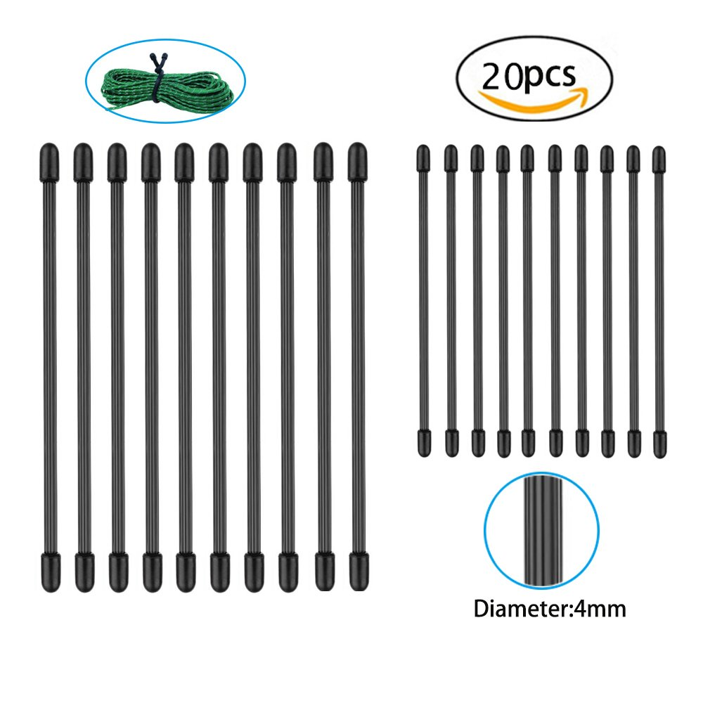 20 Pack Reusable Rubber Gear Twist Ties, Silicone Cable Management Tie for Household Office Travel Outdoors Garage Garden and Any Occasion (Black, 6inch & 3inch ) Dproptel