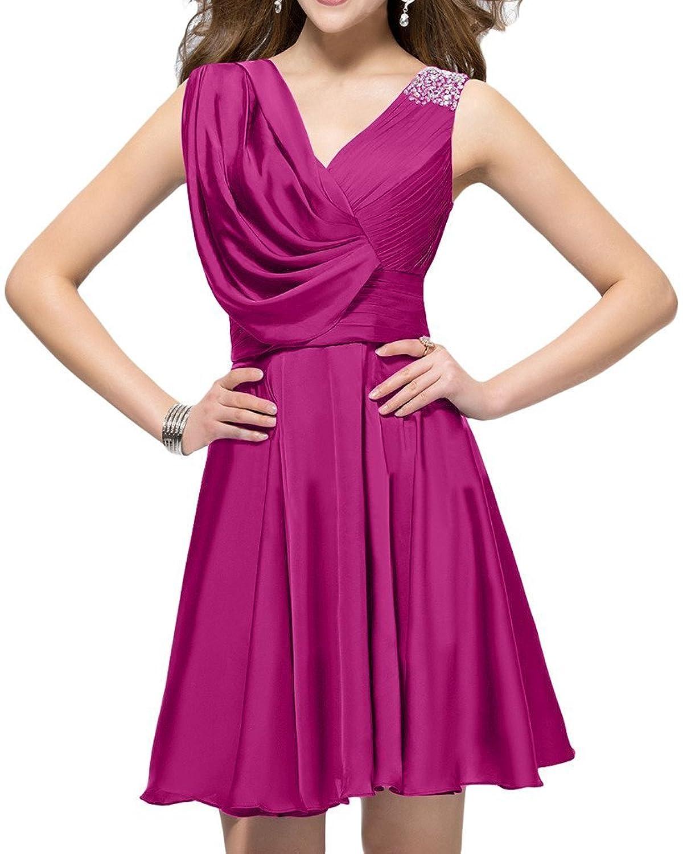 Olidress Women's Sleeveless V Neck Short Prom Dress Party Dress