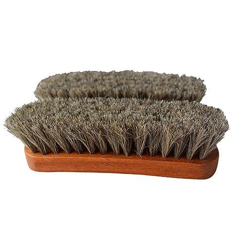 alemán pelo de caballo cepillo para pulir y limpieza – Funda de piel zapatos, bolsos