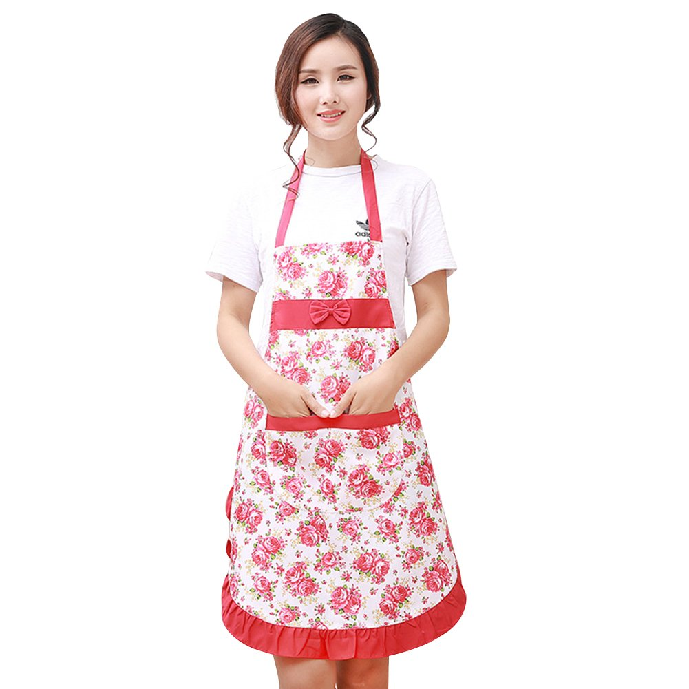 Womens Ladies Aprons Chef Butcher Home Family Kitchen Barbecue Cooking Baking Bar Apron With Pockets zsl