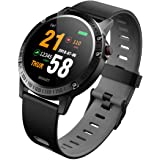 Bingo F6s Smart Tracker,Activity Health Tracker Waterproof Smart Watch Wristband with Blood Pressure Heart Rate Sleep Monitor Pedometer Step Calorie Counter for Android and iOS(Grey)