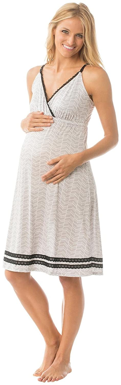 Majamas Womens Maternity The Madison Nightie-Oyster