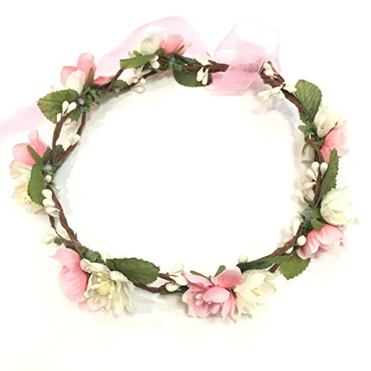 Baby & Toddler Clothing Hair Accessories The Cheapest Price Pink Flower Headband