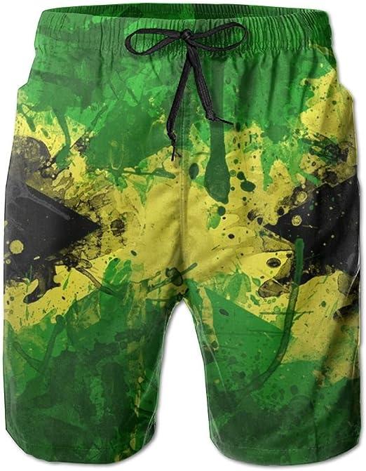 BYWX Men Solid Color Plus Size Sport Casual Gym Trainning Beach Shorts Boardshort Swim Trunk