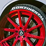 Continental - Permanent Tire Lettering Kit - White (4 of each word) - CUSTOM SIZING