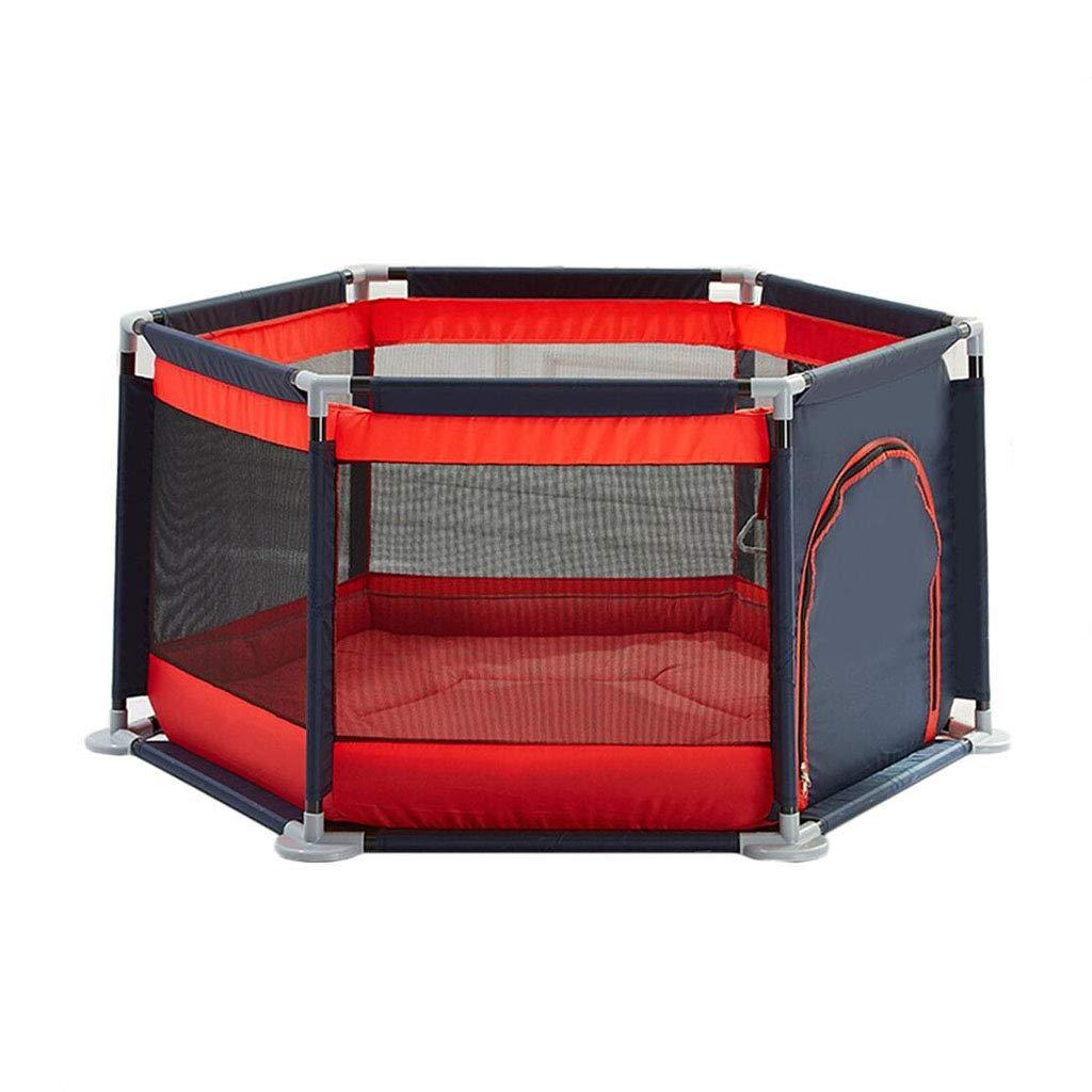 幼児のための保護フェンスのプレイペンズ赤ちゃんのプレイヤード赤ちゃんのためのホームフェンスのプレイペンターPlaymat Baby playpen baby (Color : Red, Size : 140 * 65cm) 140*65cm Red B07GVJNTLZ
