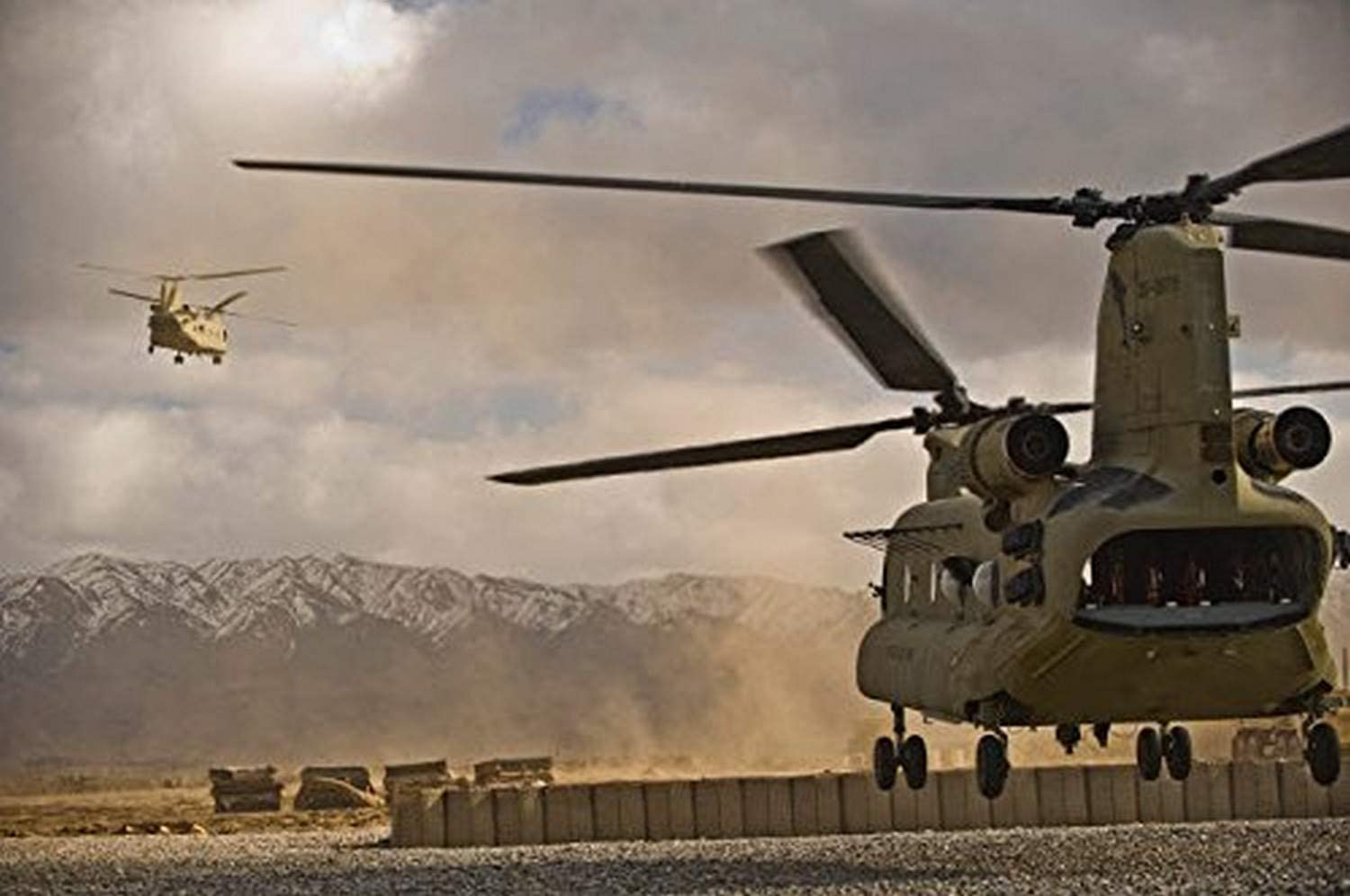 Chinook Helicopter CH-47D Military Transport Patent Huge Wall Art Poster Print