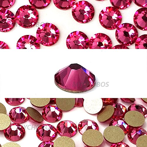 ROSE (209) pink Swarovski NEW 2088 XIRIUS Rose 20ss 5mm flatback No-Hotfix rhinestones ss20 144 pcs (1 gross) from Mychobos ()
