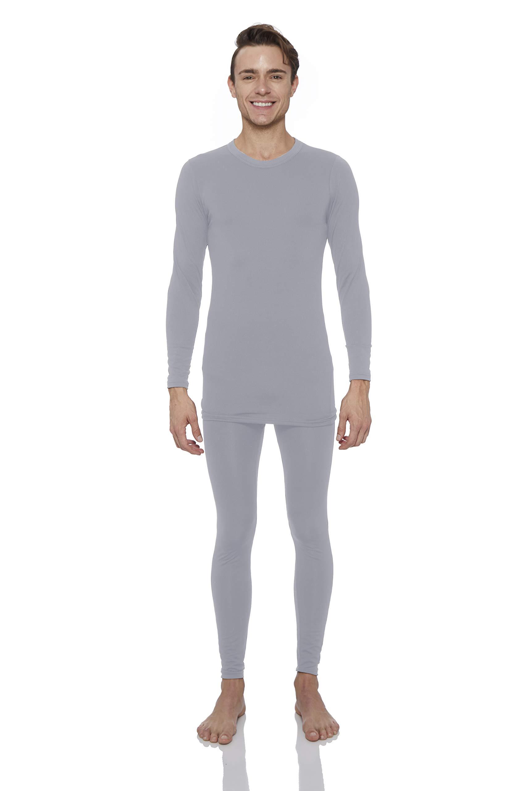 Rocky Thermal Underwear for Men Fleece Lined Thermals Men's Base Layer Long John Set Grey by Rocky