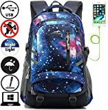ProEtrade Backpack Bookbag For School College Student Travel Business with USB Charging Port Galaxy