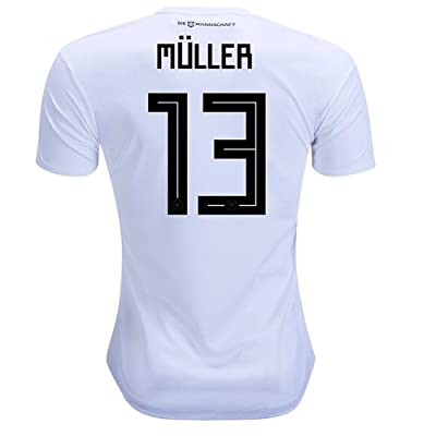 2018 World Cup Germany National Team Home #13 Muller Soccer Jersey Men Color White Size M