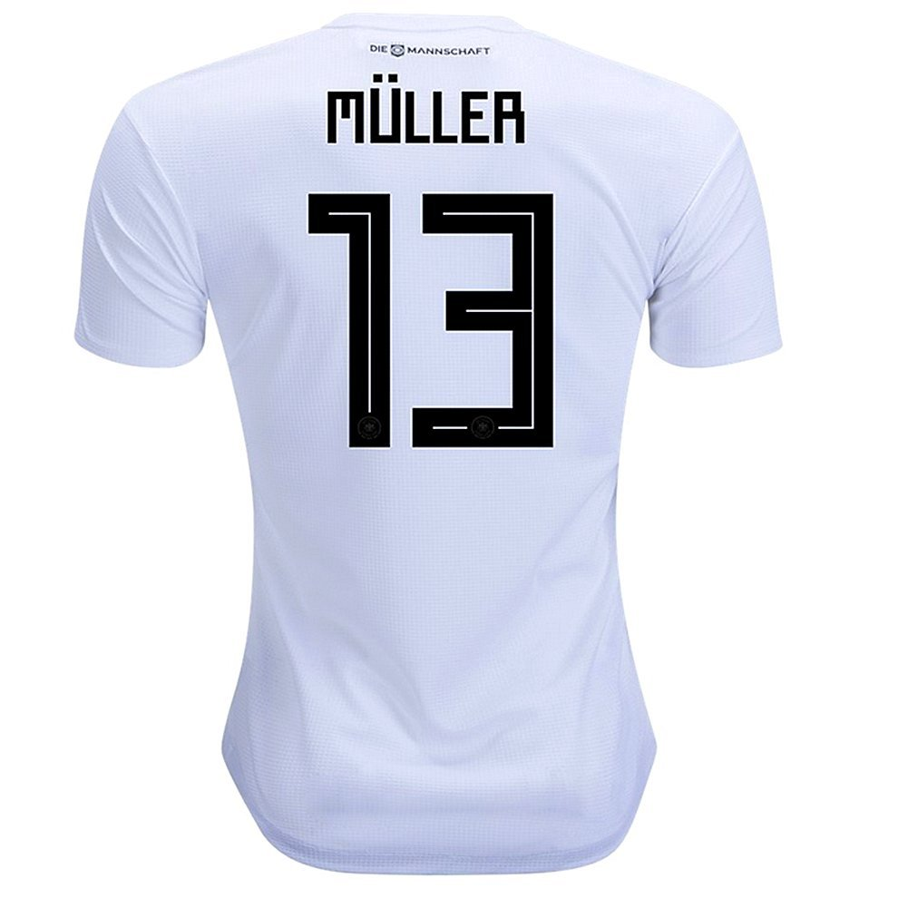 zawhz Muller #13 Germany 2018 Home Jersey Color White Size L by zawhz