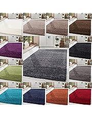 HomebyHome Shaggy hoogpolig hoogpolig tapijt voor woonkamer, Öko-Tex-gecertificeerd, 14 kleuren en 17 maten
