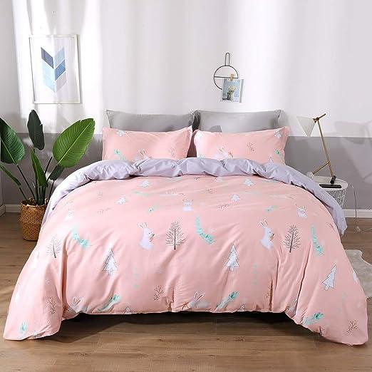 Trees Sheet Set 1 Fitted Sheet 1 Flat Sheet /& 2 Pillowcases Full//Queen//King