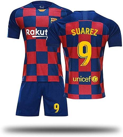 Caqq Barcelona Suarez 9 3 Traje De Futbol Para Ninos Camiseta De Futbol Juvenil Y Pantalones Cortos Ropa Deportiva De Vestuario Para Hombres Mujeres Ninos Ninas Amazon Es Deportes Y Aire Libre