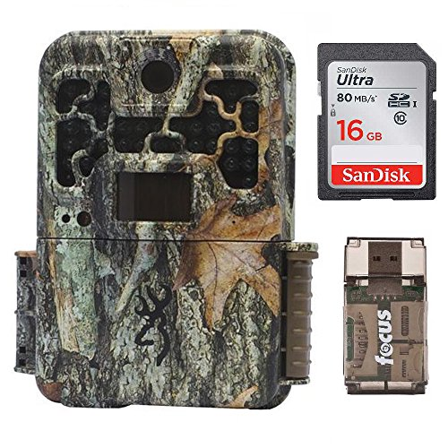 Browning Recon Force Advantage 20MP Trail Camera (1080P Video) + 16GB SD Card + Focus USB Reader