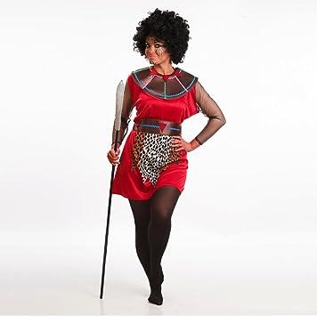 Disfraz de Guerrera Masái para mujer: Amazon.es: Juguetes y juegos