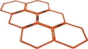 Yes4All Hexagonal Speed & Agility Rings with Carrying Bag (Set of 6 Rings & 12 Rings)