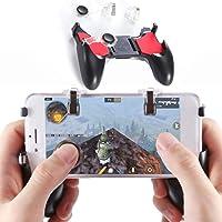 Controlador de Juegos de celular, Gatillos para smartphone, Disparo Sensible y Aim Keys L1 R1 y Gamepad para Reglas de Supervivencia, Joysticks de Juegos móviles para Android iOS (1 Gatillo + 1 Gamepad)