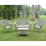 International Caravan 3180-AM-IC Furniture Four Piece Maui Outdoor Seating Group