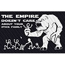 The Empire Doesn't Care About Your Stick Figure Family Star Wars Rancor Vinyl Car Decal Sticker