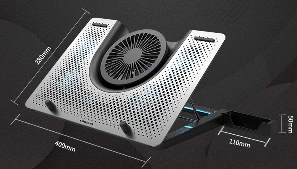 Ho,ney Radiator-Notebook Stand 17.3 Inch Air-Cooled Computer Radiator Base Durable -1053 Notebook Cooler by Ho,ney (Image #2)