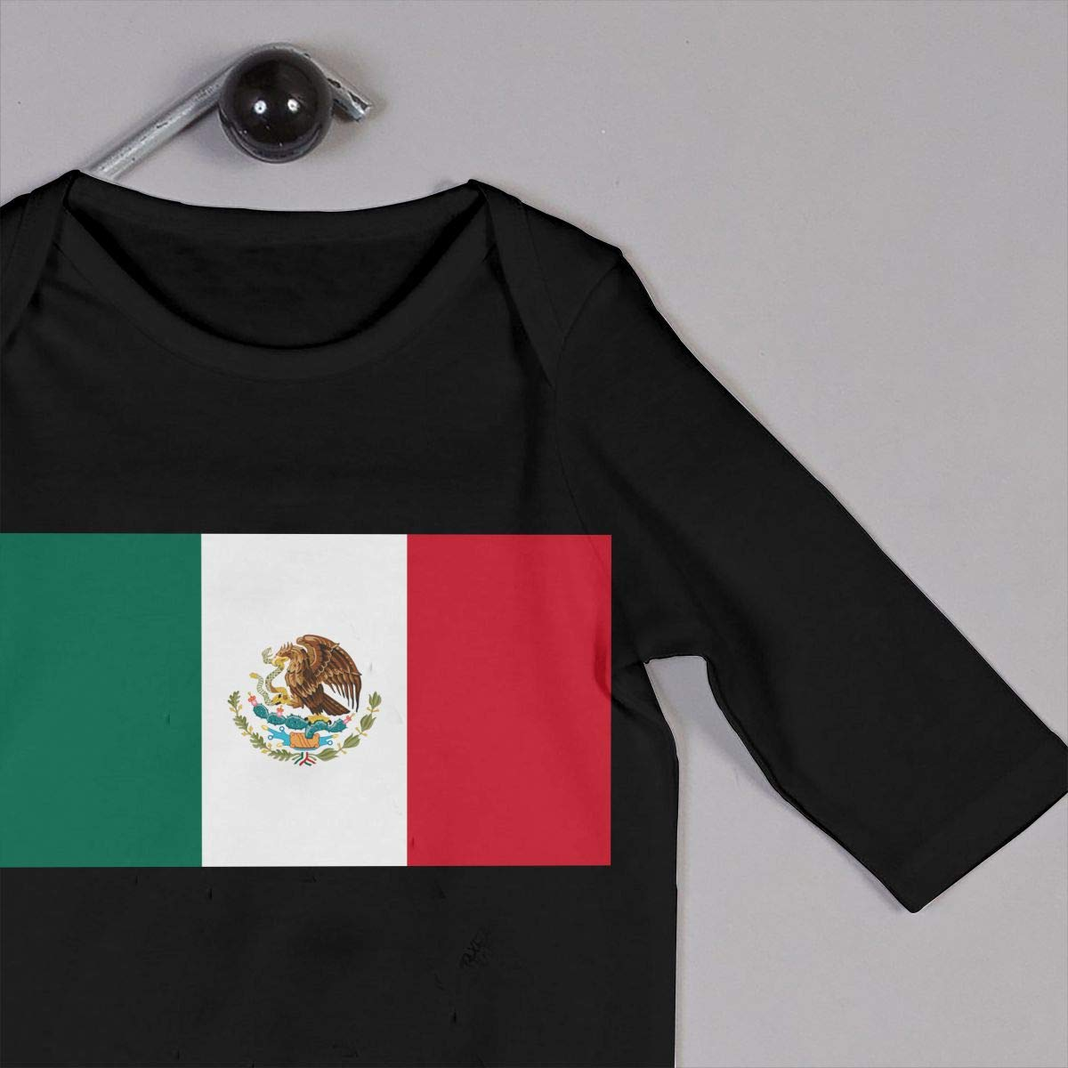 Soft Mexico Flag Crawler U99oi-9 Long Sleeve Cotton Rompers for Baby Girls Boys