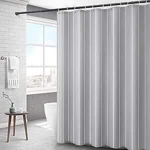 Peng Sounder-hm Plato de Ducha Ducha Gris Cortina de Rayas Repelente de Agua Resistente al Moho del baño Cortina de Tela de poliéster for Cortinas de baño húmeda habitación para el baño: