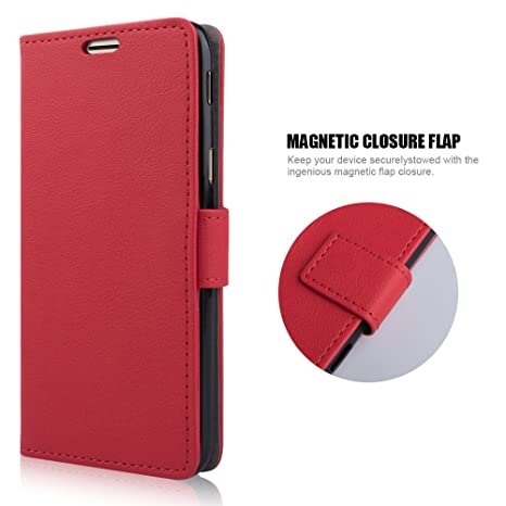 coque portefeuille rouge samsung j5 2017