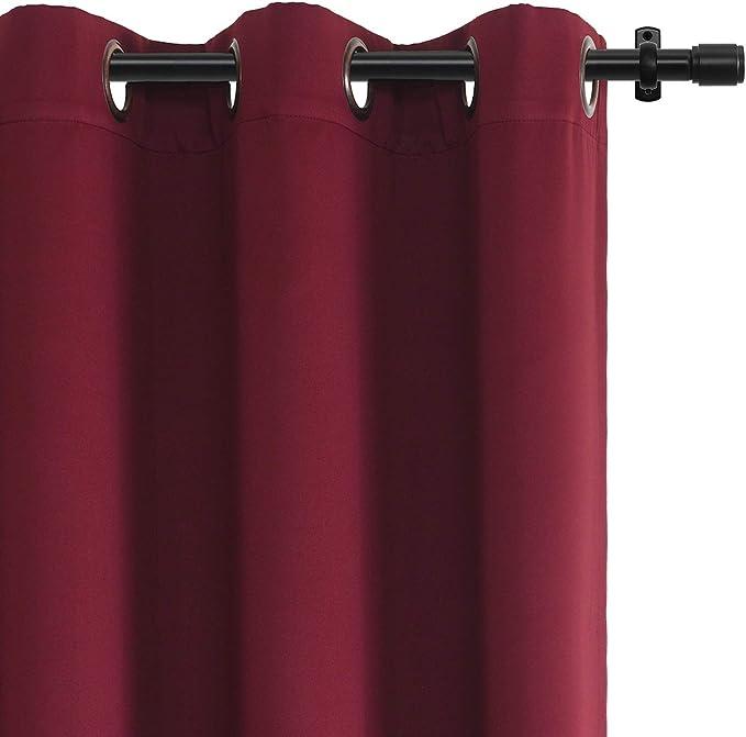 Panel de cortina térmica opaca RHF para puerta de patio o puerta corredera. Cortina térmica aislada con ojales muy ancha para puerta corredera de cristal: Amazon.es: Hogar