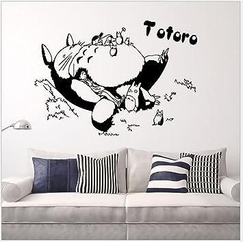 Violet Design  Cartoon Totoro Sleeping Totoro, Wall Decals DIY Removable My  Neighbor Totoro Art