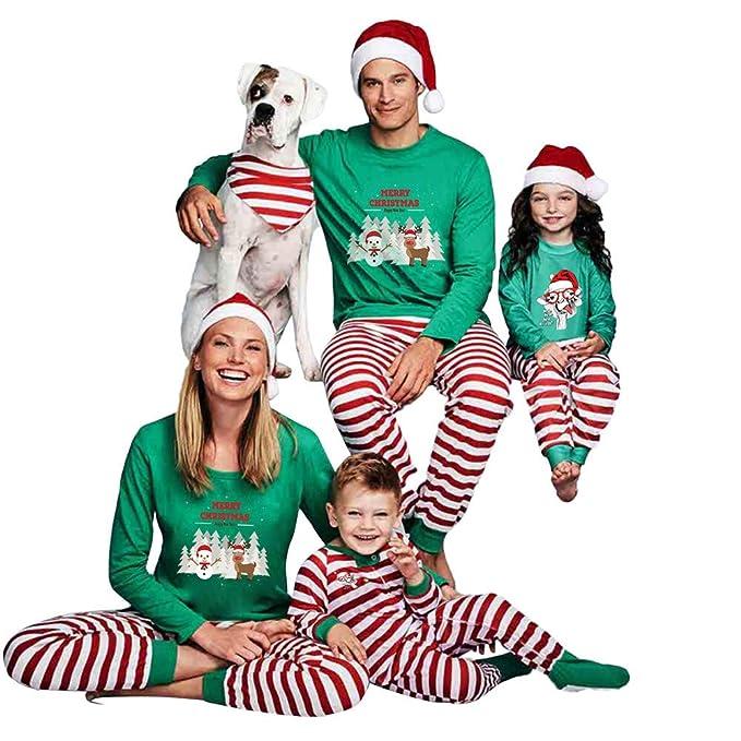 Bazhahei Navidad Familia Pijamas Ropa De Dormir Juego De Navidad De
