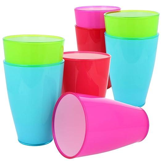 com-four® Vaso de plástico 8x - vaso de plástico en diferentes ...