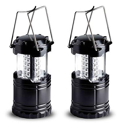 LED farol de camping, gtmac portátil al aire libre plegable rígida lámpara – gran luz