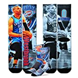 Officially licensed NBA Drive men's performance Crew sock featuring your NBA players. Made by For Bare Feet. Size medium fits foot sizes 5-10.