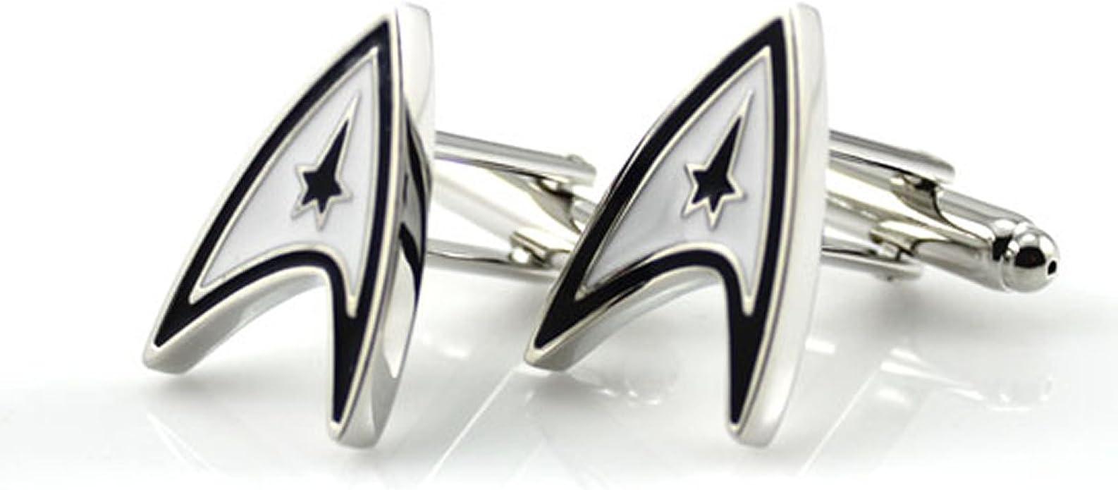 GILIND-Star Trek Wars Plata Gemelos para los hombres + Caja de regalo
