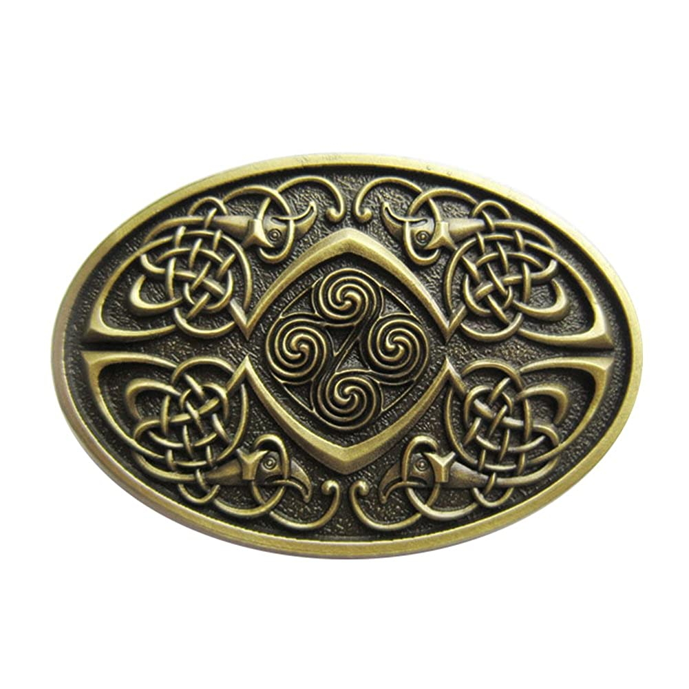 Original Vintage Bronze Plated Celtic Legend Phoenix Oval Belt Buckle
